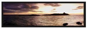 Before sunrise silhouettes Dalkey Island