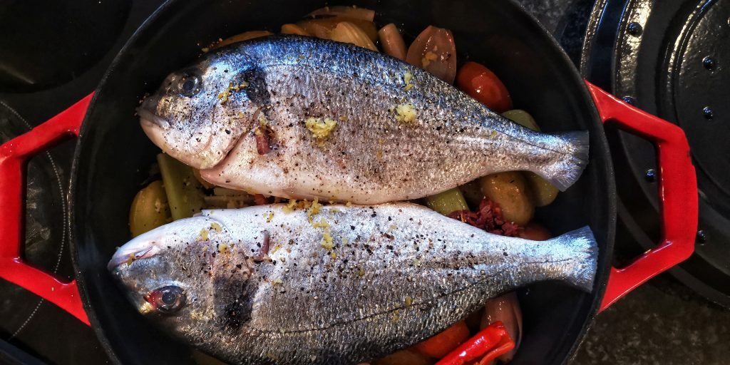 Oven ready Food Photography - Fish - Seabream